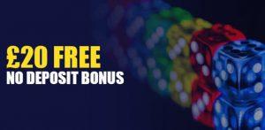 $20 free no deposit bonus