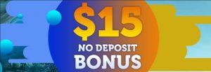 $15 No deposit bonus